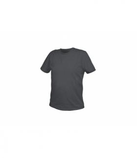 T-shirt bawełniany, grafitowy, M