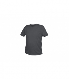 T-shirt bawełniany, grafitowy, S