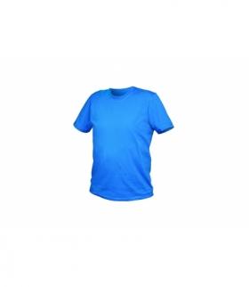 T-shirt bawełniany, niebieski, L
