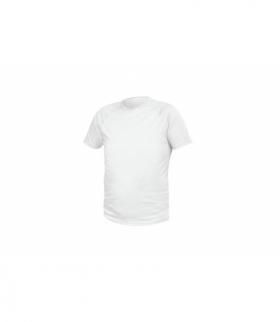 T-shirt poliestrowy, biały, XL