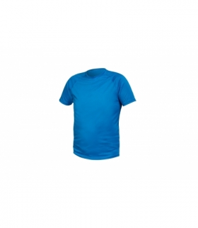 T-shirt poliestrowy, niebieski, L
