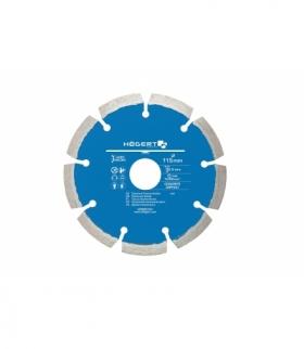 Tarcza diamentowa 115 mm, laserowo spawana, asfalt, cegła, klinkier, beton zbrojony, kostka brukowa, płytki ceramiczne HT6D741