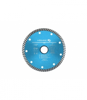 Tarcza diamentowa 115 mm, turbo, super cienka, cegła, klinkier, beton komórkowy, kostka brukowa, płytki ceramiczne HT6D711