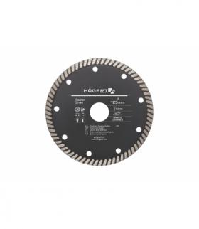 Tarcza diamentowa 125 mm, turbo, super cienka, cegła, klinkier, beton komórkowy, kostka brukowa, płytki ceramiczne HT6D712