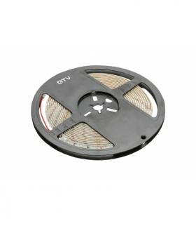 Taśma Flash 2835, 300 LED neutralny biały 4000K, 30W/5m bez żelu 8mm, Rolka 50m, 12V