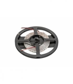 Taśma Flash 2835, 600 LED neutralny biały, 60W,  bez żelu 10mm, Rolka 5m, 12V  (2 kable)