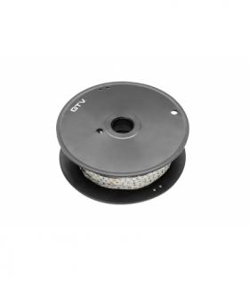 Taśma Flash 3528, 300 LED zimny biały, 24W, wodoodporna 8mm, Rolka 5m, 12V