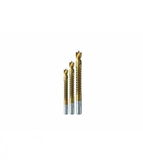 Wiertła- piły zestaw 3 szt, 5.6.8 mm do drewna i tworzywa, stal HSS