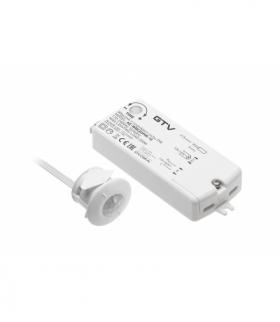 Włącznik bezdotykowy PIR 230V, max.250W, przewód 2m, biały