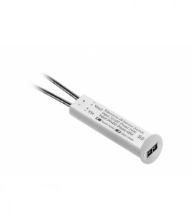 Włącznik bezdotykowy uniwersalny (dwubiegowy lub zbliżeniowy), biały, 12V DC ze ściemniac