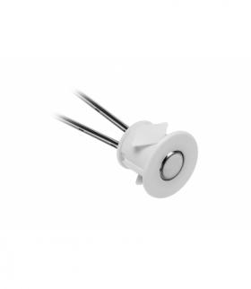 Włącznik dotykowy ściemnialny 12V 24W, biały, fi 22 x 16mm, na otwór fi18