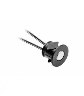 Włącznik dotykowy ściemnialny 12V 24W, czarny, fi 22 x 16mm, na otwór fi18