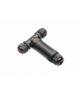 Złącze kablowe, mufa, wodoszczelny trójnik do przewodów elektrycznych, IP68