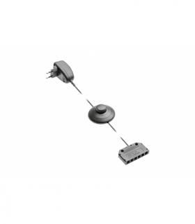 Zasilacz do klipów LED 12V DC, 1.5W, zasilanie 230V-50Hz, max 5 klipów 0.24W