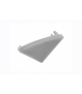 Zaślepka do profila LED GLAX kątowy  srebrna (10 szt. w blistrze)