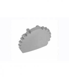 Zaślepka do profilu GLAX drążek srebrna ( 10 szt. w blistrze)