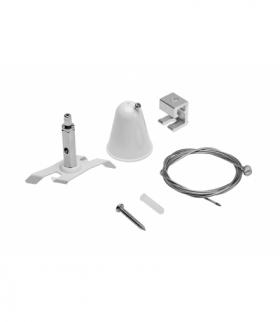 Zestaw do zwieszenia szynoprzewodu 3-fazowego X-RAIL-mocowanie sufitowe, linka 1,5m, mocowanie Easy