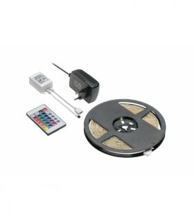 Zestaw LED RGB 5m 150LED 25W,kontroler IR 24keys, zasilacz 12V25W, IP20