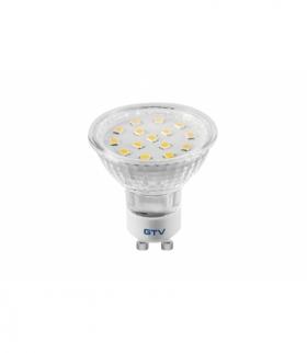 Żarówka LED, SMD 2835, ciepły biały, GU10, 4W, 230V, kąt świecenia 120*, 320 lm, 43 mA