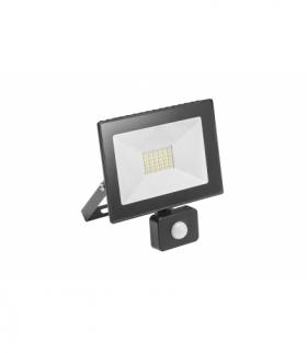 G-TECH Naświetlacz LED z czuj. ruchu, 30W, 2100lm, AC220-240V,50/60 Hz,PF0,9,IP65,120°,6400K,czarny