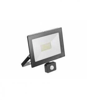 G-TECH Naświetlacz LED z czuj. ruchu, 50W, 3500lm,AC220-240V,50/60 Hz,PF0,9,IP65,120°,6400K,czarny