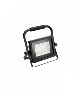 Naświetlacz LED iNEXT, przenośny, 30W, 2400lm, AC220-240V, 50/60 Hz, PF0,9, RA80, IP65, 120°, 6400