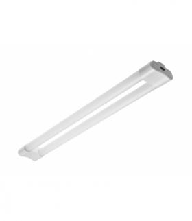 Oprawa LED VELA, 36W, 2800lm, AC220-240V, 50/60Hz, PF0,9, RA80, IP20, 120*, 4000K, 2x120cm, biały