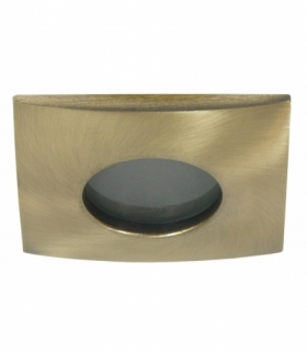 SH-10-GAB MR16 PATYNA stare złoto oczko sufitowe lampa sufitowa HERMETYCZNA IP65 odporna na wilgoć