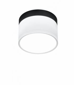 LAMPA SUFITOWA TUBA 9W LED 4000K BIAŁY+CZARNY ŚR. 8,8 CM