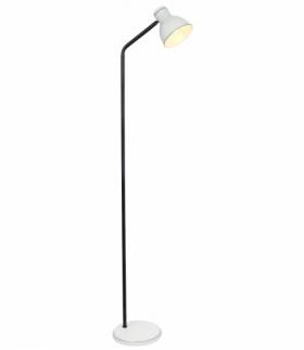 ZUMBA LAMPA PODŁOGOWA SZTYCA PROSTA 1X40W E27 BIAŁY+CZARNY