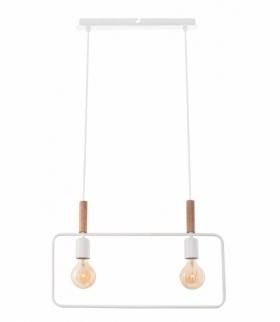 FRAME LAMPA WISZĄCA 2X60W E27 BIAŁY