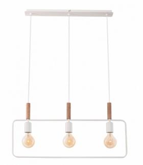 FRAME LAMPA WISZĄCA 3X60W E27 BIAŁY