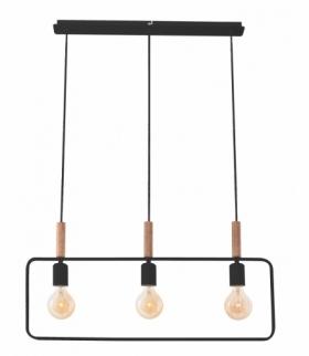 FRAME LAMPA WISZĄCA 3X60W E27 CZARNY