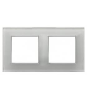 Ramka podwójna Białe szkło 4mm ARIA OSPEL