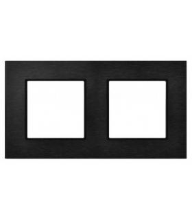 Ramka podwójna Szczotkowany antracyt 4mm ARIA prestige OSPEL