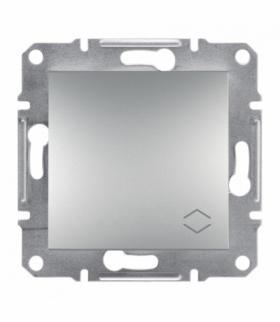 Asfora Łącznik schodowy bez ramki (zaciski śrubowe) aluminium Schneider EPH0400361