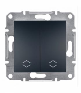Asfora Łącznik podwójny schodowy bez ramki (zaciski śrubowe) antracyt Schneider EPH0600371