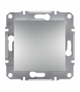 Asfora Przycisk 1-biegunowy bez ramki, aluminium Schneider EPH0700161