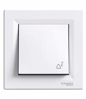Asfora Przycisk dzwonek biały Schneider EPH0800121