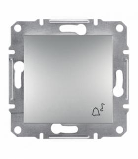 Asfora Przycisk dzwonek bez ramki aluminium Schneider EPH0800161