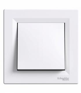 Asfora Przycisk (zaciski śrubowe) biały Schneider EPH0800321