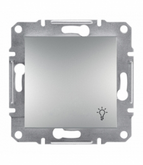 Asfora Przycisk światło bez ramki aluminium Schneider EPH0900161
