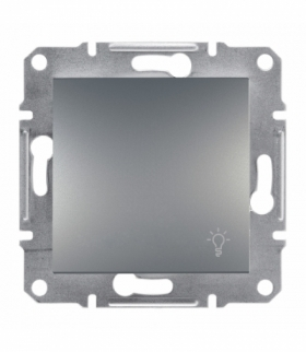 Asfora Przycisk światło bez ramki stal Schneider EPH0900162
