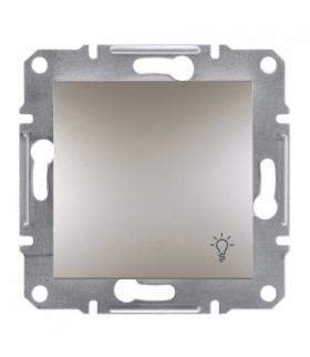 Asfora Przycisk światło bez ramki brąz Schneider EPH0900169