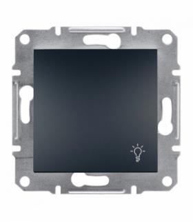 Asfora Przycisk światło bez ramki antracyt Schneider EPH0900171