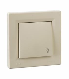 Asfora Przycisk światło IP44 krem Schneider EPH0900223