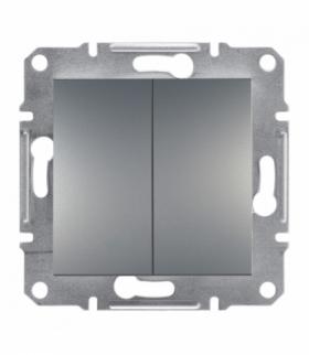 Asfora Przycisk podwójny bez ramki (zaciski śrubowe) stal Schneider EPH1100362