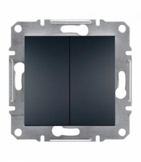 Asfora Przycisk podwójny bez ramki (zaciski śrubowe) antracyt Schneider EPH1100371