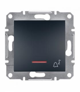 Asfora Przycisk dzwonek bez ramki z podświetleniem antracyt Schneider EPH1700171