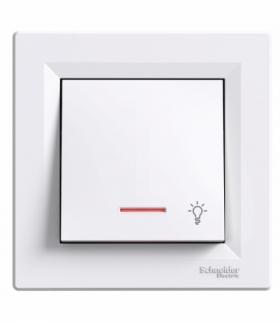 Asfora Przycisk światło z podświetleniem biały Schneider EPH1800121